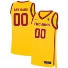 Men's USC Trojans Customized Yellow 2019 College Basketball Jersey