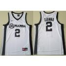 Men's Uconn Huskies #2 Gianna Bryant Gigi Forever Mamba White Swingman Basketball Jersey