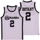 Men's Uconn Huskies #2 Gianna Bryant White College Basketball Jersey