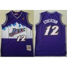 Men's Utah Jazz #12 John Stockton Purple 1996 Throwback Swingman Jersey