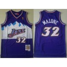 Men's Utah Jazz #32 Karl Malone Purple 1996 Hollywood Classic Swingman Jersey