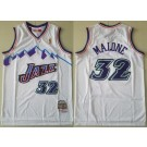 Men's Utah Jazz #32 Karl Malone White 1996 Hollywood Classic Swingman Jersey