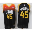 Men's Utah Jazz #45 Donovan Mitchell Black 2021 City Icon Sponsor Swingman Jersey