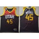 Men's Utah Jazz #45 Donovan Mitchell Black 2021 City Icon Swingman Jersey