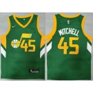 Men's Utah Jazz #45 Donovan Mitchell Green Earned Icon Swingman Jersey