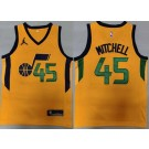 Men's Utah Jazz #45 Donovan Mitchell Yellow Statement Icon Swingman Jersey