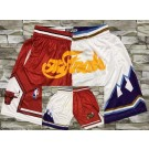 Men's Utah Jazz Chicago Bulls Red White 1997 Finals Laser Printing Shorts
