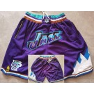Men's Utah Jazz Purple Classic Just Don Shorts