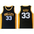 Men's Valley High School #33 Larry Bird Black College Basketball Jersey