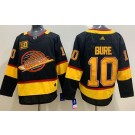 Men's Vancouver Canucks #10 Pavel Bure Black Yellow 50th Anniversary Authentic Jersey