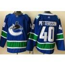 Men's Vancouver Canucks #40 Elias Pettersson Blue 2021 Authentic Jersey