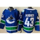 Men's Vancouver Canucks #43 Quinn Hughes Blue 2021 Authentic Jersey