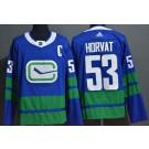 Men's Vancouver Canucks #53 Bo Horvat Blue Alternate Authentic Jersey