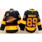 Men's Vancouver Canucks #89 Alexander Mogilny Black Yellow 50th Anniversary Authentic Jersey