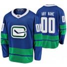 Men's Vancouver Canucks Customized Blue Alternate Authentic Jersey