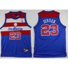 Men's Washington Bullets #23 Michael Jordan Blue Throwback Swingman Jersey
