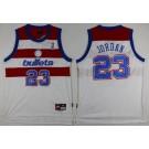 Men's Washington Bullets #23 Michael Jordan White Throwback Swingman Jersey