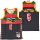 Men's Washington Bullets #6 The District Black Remix Big Season X Hollywood Classic Swingman Jersey