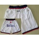 Men's Washington Bullets White Just Don Throwback Swingman Shorts