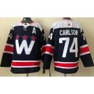 Men's Washington Capitals #74 John Carlson Navy Alternate Authentic Jersey