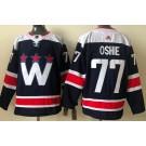 Men's Washington Capitals #77 TJ Oshie Navy Alternate Authentic Jersey