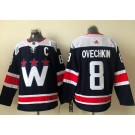 Men's Washington Capitals #8 Alex Ovechkin Navy Alternate Authentic Jersey
