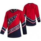 Men's Washington Capitals Customized Red 2021 Reverse Retro Authentic Jersey