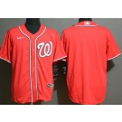 Men's Washington Nationals Blank Red Cool Base Jersey