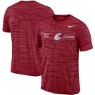 Men's Washington State Cougars Crimson Velocity Sideline Legend Performance T Shirt 201072