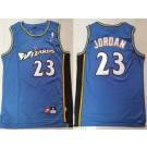 Men's Washington Wizards #23 Michael Jordan Blue Throwback Swingman Jersey
