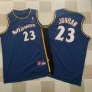 Men's Washington Wizards #23 Michael Jordan Navy Blue Throwback Authentic Jersey