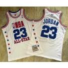 Men's Washington Wizards #23 Michael Jordan White 2003 All Star Authentic Jersey