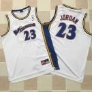 Men's Washington Wizards #23 Michael Jordan White Throwback Authentic Jersey