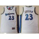 Men's Washington Wizards #23 Michael Jordan White Throwback Swingman Jersey