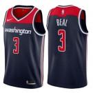 Men's Washington Wizards #3 Bradley Beal Navy Statememt Icon Hot Press Jersey