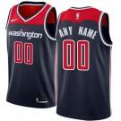 Men's Washington Wizards Custom Navy Statememt Icon Hot Press Jersey