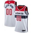 Men's Washington Wizards Custom White Icon Hot Press Jersey
