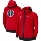 Men's Washington Wizards Red Showtime Performance Full Zip Hoodie Jacket