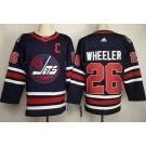 Men's Winnipeg Jets #26 Blake Wheeler Navy 2019 Heritage Classic Jersey