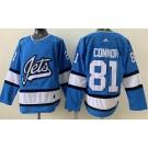 Men's Winnipeg Jets #81 Kyle Connor Blue Alternate Jersey