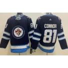 Men's Winnipeg Jets #81 Kyle Connor Navy Jersey
