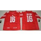 Men's Wisconsin Badgers #16 Russell Wilson Red College Football Jersey