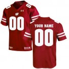 Men's Wisconsin Badgers UA Customized Red UA Jersey