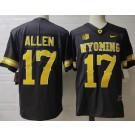 Men's Wyoming Cowboys #17 Josh Allen Black College Jersey