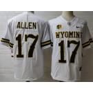 Men's Wyoming Cowboys #17 Josh Allen White College Jersey