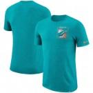 Miami Dolphins Marled Stadium Heathered Printed T Shirt 200809