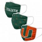 Miami Hurricanes FOCO Cloth Face Covering Civil Masks 3 Pics