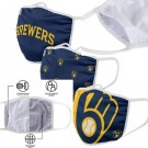 Milwaukee Brewers FOCO Cloth Face Covering Civil Masks 3 Pics