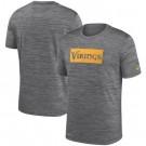 Minnesota Vikings Marled Stadium Heathered Printed T Shirt 200812
