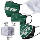 New York Jets FOCO Cloth Face Covering Civil Masks 3 Pics